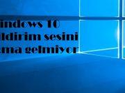 Windows 10 bildirim sesini açma gelmiyor