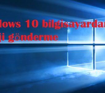 Windows 10 bilgisayardan emoji gönderme