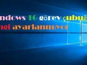 Windows 10 görev çubuğu rengi ayarlanmıyor