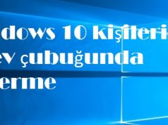 Windows 10 kişileri görev çubuğunda gösterme