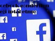 Facebook gönderilen isteği iptal etme