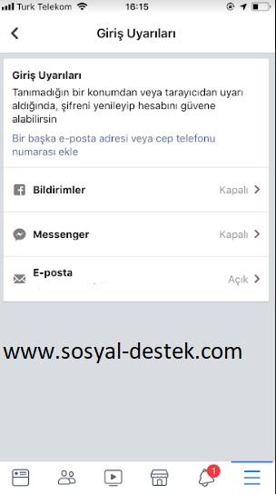 Facebook giriş uyarı bildirimlerini açma, facebook uyarı bildirimlerini açma, facebook giriş uyarıları, facebook giriş uyarı bildirimi gelmiyor, facebook giriş uyarısı gelmiyor, facebook giriş uyarısını etkinleştirme