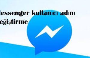 Messenger kullanıcı adını değiştirme