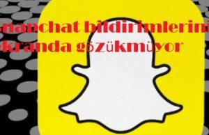 Snapchat bildirimleri ekranda çıkmasın