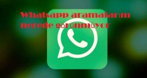 Whatsapp aramalarım nerede görünmüyor