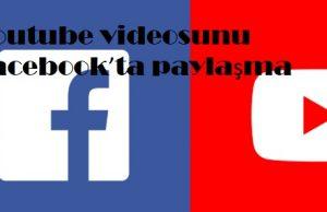 Youtube videosunu Facebook'ta paylaşma