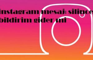 instagram mesajı silince bildirim gider mi