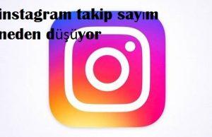 instagram takip sayım neden düşüyor