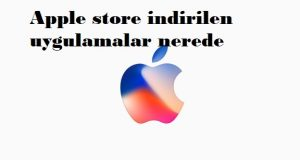 Apple store indirilen uygulamalar nerede