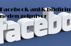 Facebook anlık bildirim neden gelmiyor