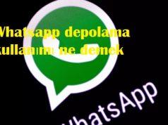 Whatsapp depolama kullanımı ne demek