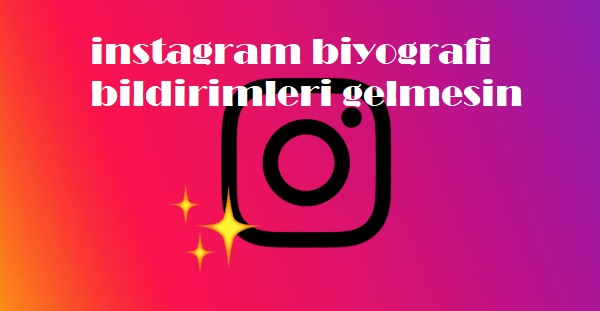 instagram biyografi bildirimleri gelmesin
