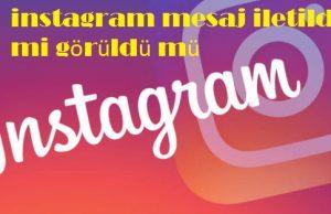 instagram mesaj iletildi mi görüldü mü