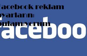 Facebook reklam ayarlarını bulamıyorum