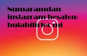 Numaramdan instagram hesabını bulabilirler mi