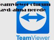 Teamviewer oturum kaydı alma nerede