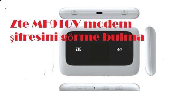 Zte MF910V modem şifresini görme bulma