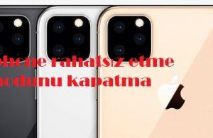 iphone rahatsız etme modunu kapatma