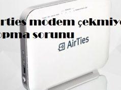 Airties modem çekmiyor kopma sorunu