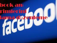 Facebook anı bildirimlerini ayarlama düzenleme