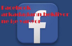 Facebook arkadaşların bekliyor ne işe yarıyor
