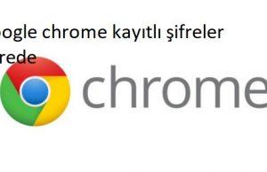 Google chrome kayıtlı şifreler nerede
