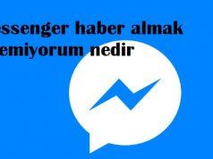 Messenger haber almak istemiyorum nedir