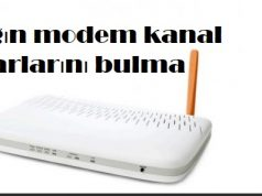 Tılgın modem kanal ayarlarını bulma