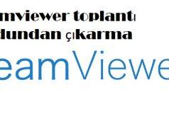 Teamviewer toplantı modundan çıkarma