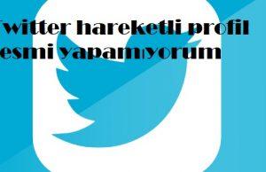 Twitter hareketli profil resmi yapamıyorum