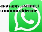 Whatsapp çevrimiçi sorununu giderme