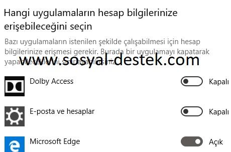 Windows 10 hesap bilgileri erişim ayarları, windows 10 hesap bilgileri nerede, windows 10 hesabıma erişilmesin, windows 10 hesap bilgilerini bulamıyorum, windows 10 hesap bilgileri alanı bende yok
