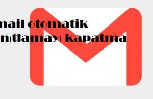 Gmail otomatik yanıtlamayı kapatma