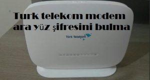 Turk telekom modem ara yüz şifresini bulma