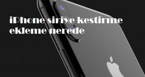 iPhone siriye kestirme ekleme nerede