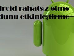 Android rahatsız etme modunu etkinleştirme