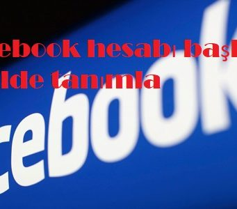 Facebook hesabı başka şekilde tanımla