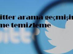 Twitter arama geçmişini silme temizleme