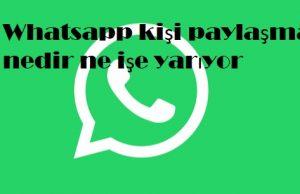 Whatsapp kişi paylaşma nedir ne işe yarıyor