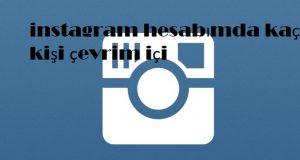 instagram hesabımda kaç kişi çevrim içi