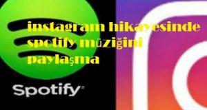 instagram hikayesinde spotify müziğini paylaşma