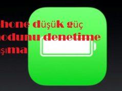 iphone düşük güç modunu denetime taşıma