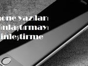 iphone yazıları kalınlaştırmayı etkinleştirme