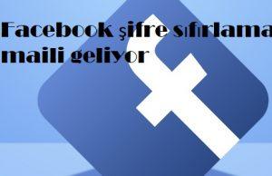 Facebook şifre sıfırlama maili geliyor