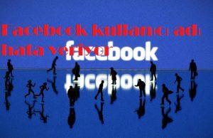 Facebook kullanıcı adı hata veriyor