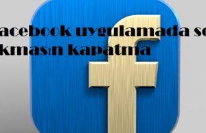 Facebook uygulamada ses çıkmasın kapatma