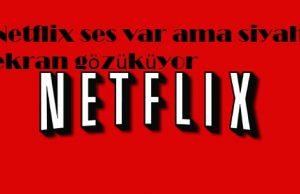 Netflix ses var ama siyah ekran gözüküyor