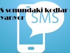 SMS sonundaki kodlar ne işe yarıyor