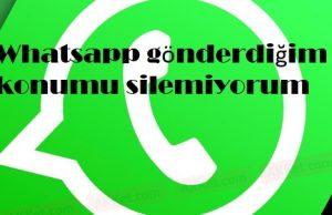 Whatsapp gönderdiğim konumu silemiyorum