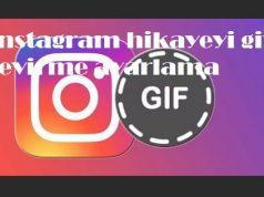 instagram hikayeyi gife çevirme ayarlama